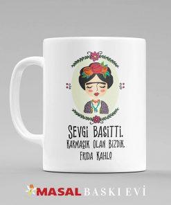 Frida Kahlo Sevgi Basitti Baskılı Kupa Bardak