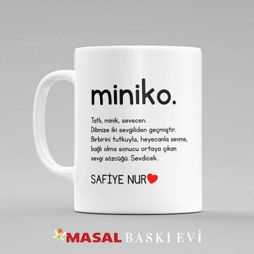 Lügat Miniko Yazılı Kupa Bardak