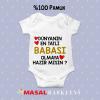 Dünyanın En Tatlı Babası Olmaya Hazır Mısın Yazılı Bebek Zıbını